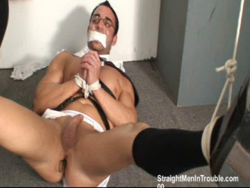 Gay BDSM Young Executive Stripped, Milked and Fucked - Part 4
