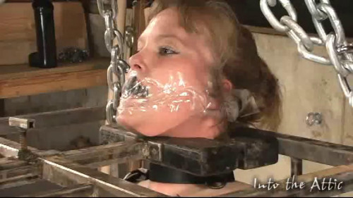 BDSM Tight bondage, strappado and torture for sexy hot model