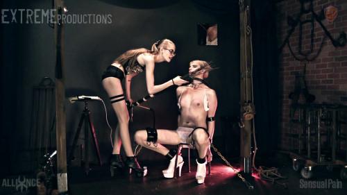 BDSM Tgirl ElectrifyingChair Bondage