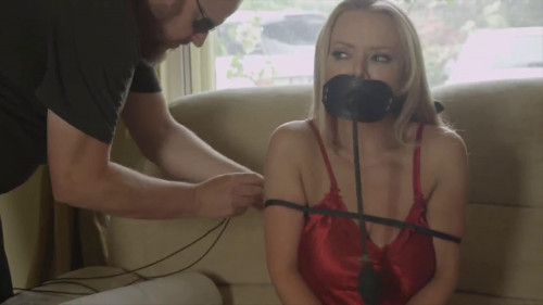 BDSM Bondage, domination and hogtie for two horny blondes part 1 Full HD1080