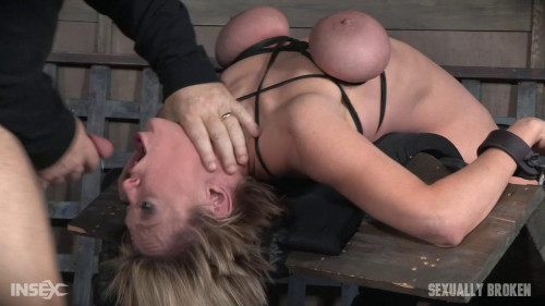 BDSM Dee Williams - Brutally face fucked on a sybian!