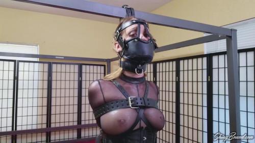 BDSM Belt Bound and Muzzled-rope bondage videos
