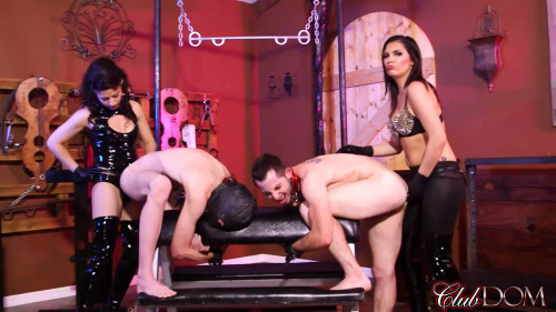 Femdom and Strapon Isobel Devi and Veronica Snow strapon