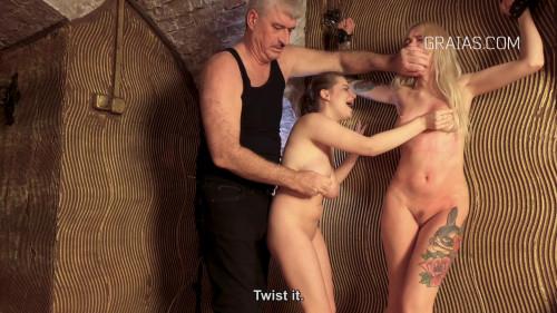 BDSM Arteya & Alice Punished Together By Lomp