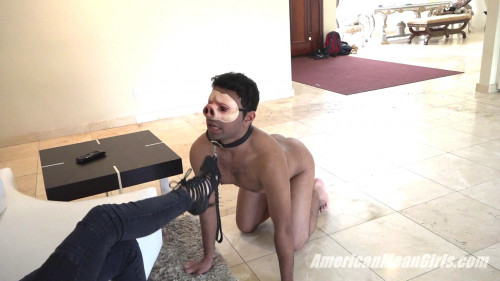 Femdom and Strapon Pigboy Learns To Worship