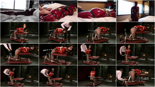 BDSM Latex Super bondage, torture and domination for hot model in latex