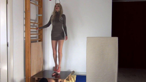 Femdom and Strapon Pierced and Milked by Alina in High Heels