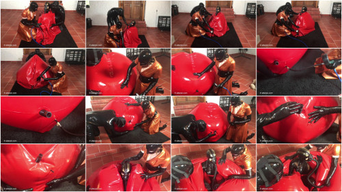 BDSM Latex Fundoshi and the Red Rubber Balloon 2 of 2