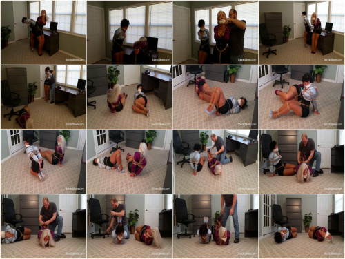 BDSM SandraSilvers - Corset-ed Captive Secretary & MILF Ladyboss, Gagged