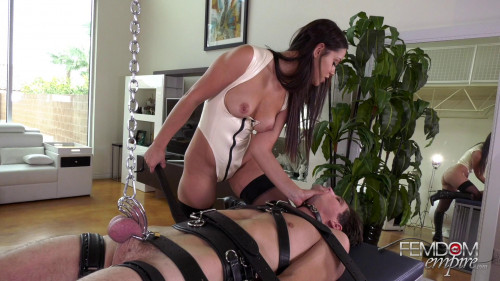 Femdom and Strapon Chastity Boy-Toy - Mistress Alina Lopez - Full HD 1080p
