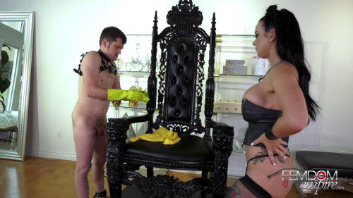 Femdom and Strapon Bruised and Battered Balls