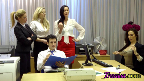 Femdom and Strapon The New Office Girl