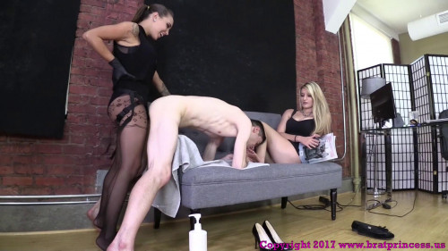 Femdom and Strapon Sasha Foxxx and Chloe Danni Bent Over Fucked For Not Following Rules (2017)