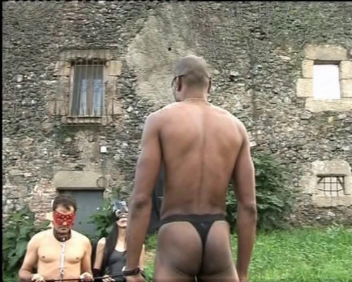 Femdom and Strapon Old pussy for slave