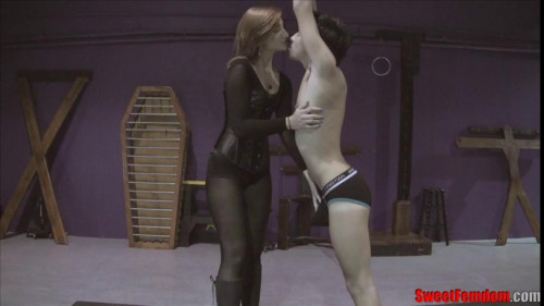 Femdom and Strapon Amadahy Kissing Castration
