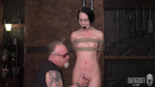 BDSM Catch her breath, she gets tied