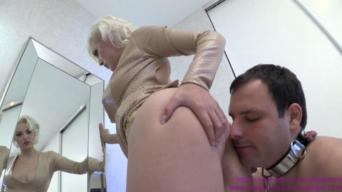 Femdom and Strapon Cuckold Dresses his Mistress for Her Bulls