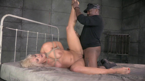 BDSM Big breasted milf strictly restrained and assfucked by big black cock
