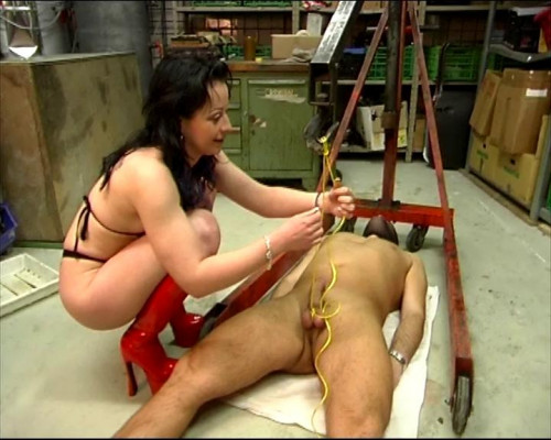 Femdom and Strapon Brutal CBT treatment