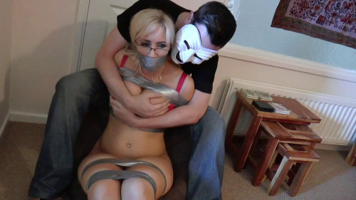 BDSM Karlie Tape-Bound