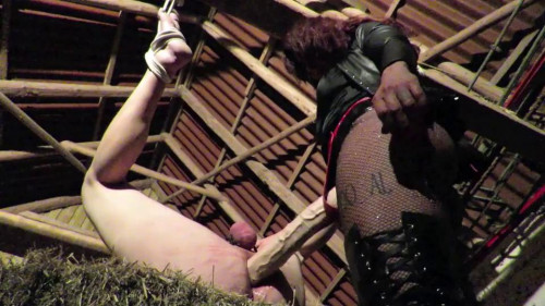 Femdom and Strapon A quickie in the hay