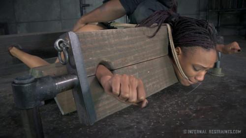 BDSM Rough Bondage For Ebony Whore Nikki Darling