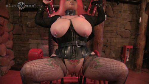 BDSM slave m - red chair