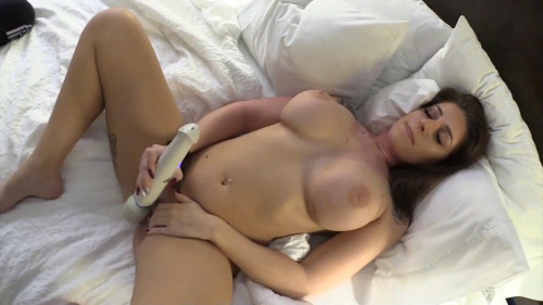 This slut is enjoying two cocks all for herself