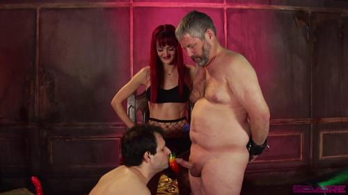 Femdom and Strapon Dick-O-Rama Fun for Sub Slut Marcelo