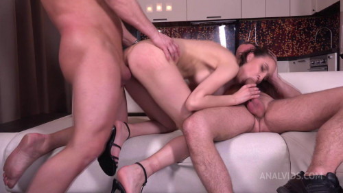 First Hard DP for Ass Petite Regina Moonshine with Gapes, and Cum in Mouth