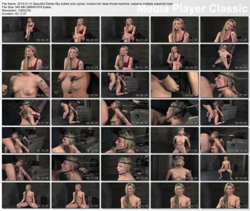 BDSM Beautiful Dahlia Sky bolted onto sybian , Hd 720p