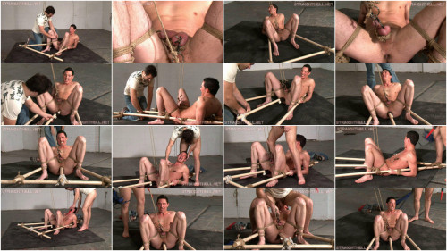 Gay BDSM Mike - Bound with dildo tied in place