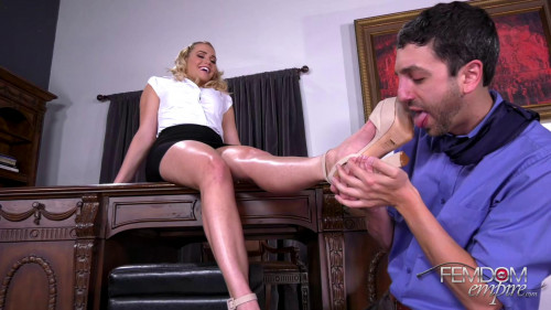 Femdom and Strapon Office Boss Bitch