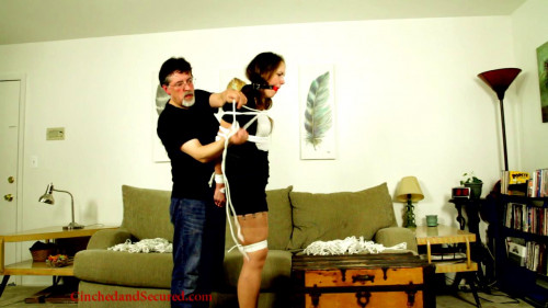 BDSM Cinched And Secured - Rachel roped