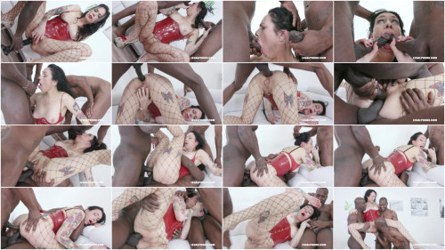 Interracial Adeline Lafouine Gets Fucked, DAP'ed & Takes A Bottle Up Her Ass