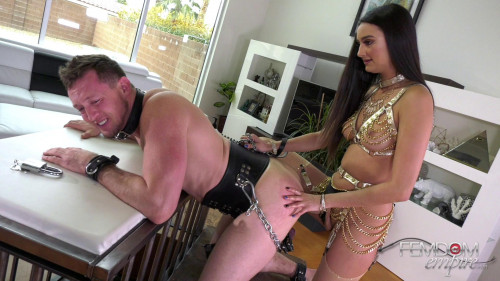 Femdom and Strapon Smile for Cock