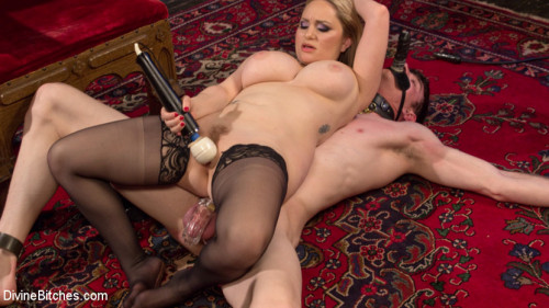 Femdom and Strapon Aiden Starr Corrects A Very Bad Dog