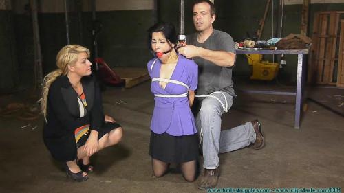 BDSM DA Hannah Perez Captured, Bound, and tormented By 2 Parolees - Part 1