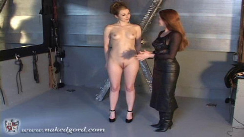 BDSM House of Gord -  Safira in the Butterfly Straight Jacket