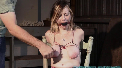 BDSM Lexi Kneels and Begs for Tit Torture and Gets It 2 part