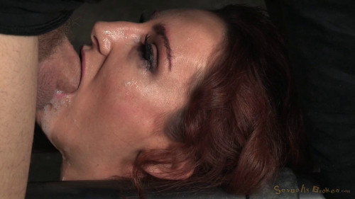 BDSM Redhead Savannah Fox Chained To A Sybian