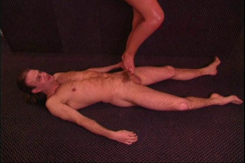 Femdom and Strapon Kiss My Toes