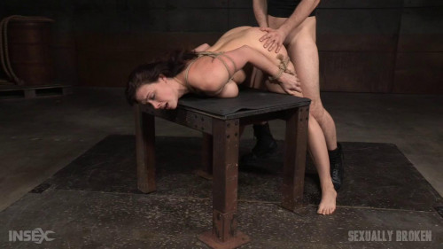 bdsm Busty sex toy rag doll fucked by two big cocks