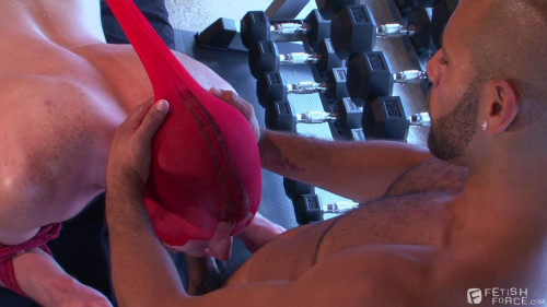 Gay BDSM Push Pull Squat Thrust scene 4