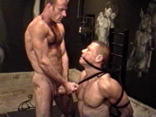 Gay BDSM Roped and Whipped - - compilation