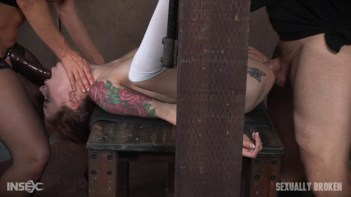bdsm Part 3 Anna De Ville is fed cock and pussy while bound and helpless