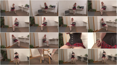 bdsm Bound and Gagged - School Uniform Bondage Victim is All Alone