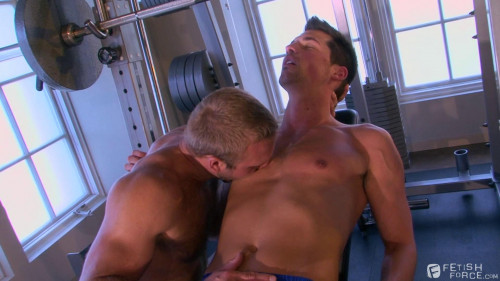 Gay BDSM Push Pull Squat Thrust scene 1