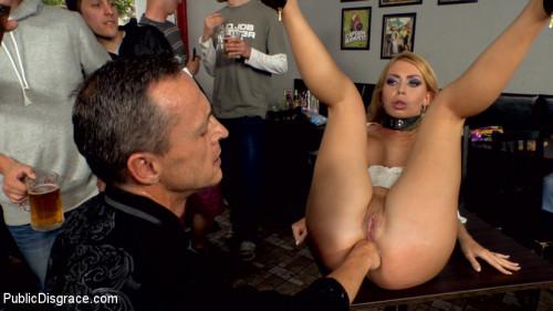 BDSM Busty Blonde Isabella Clark Public Double Penetration - Part 2