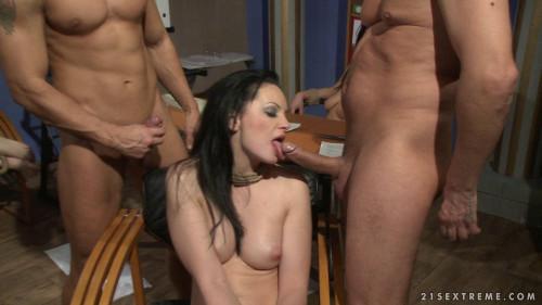BDSM Bondage Orgy With Double Fuck